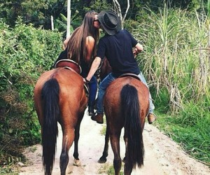 couple, goal, and horses image