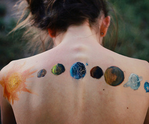 planet, art, and sun image