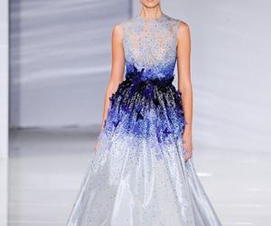 blue, catwalk, and Georges Hobeika image
