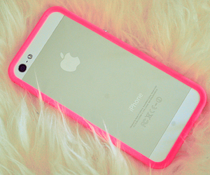 iphone, neon, and iphone case image