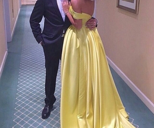 couple, dress, and yellow image