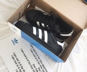 adidas, Blanc, and chaussure image