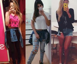 denim jacket, fashion, and girl image