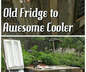 cooler, diy, and outside image