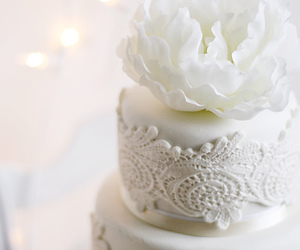 white, cake, and lace image