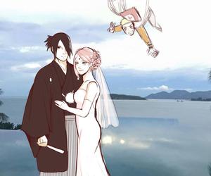 sasusaku, naruto, and sakura image