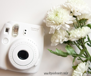 camera, flowers, and instax image
