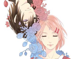 naruto, sasusaku, and anime image