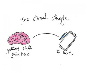 brain, quote, and struggle image