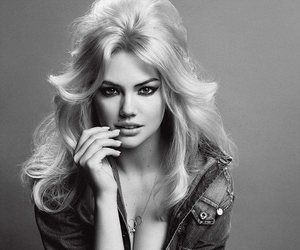 kate upton and black and white image