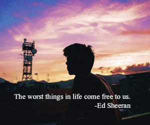 ed sheeran and quote image