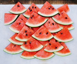 watermelon, food, and FRUiTS image