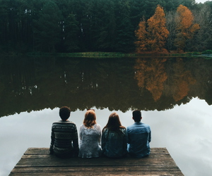 friends, aesthetic, and autumn image