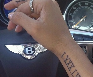tattoo, car, and Bentley image