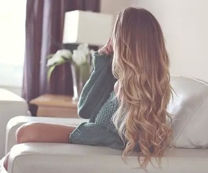 blond, curl, and hair image