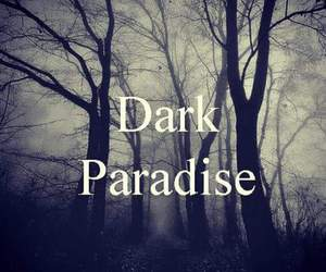 dark, paradise, and black image