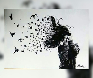 alone, angel, and freedom image