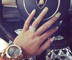 nails, car, and Lamborghini image