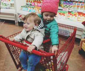 brother & sister, cute ones, and marketday image