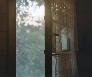 curtain, dawn, and window image