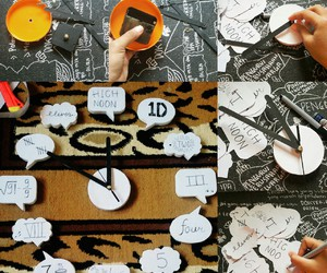 clock, creative, and diy image