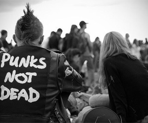punk, black and white, and grunge image