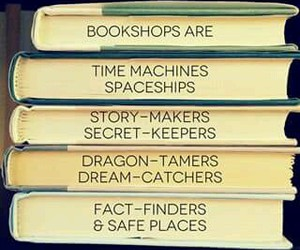 book, quote, and bookshop image