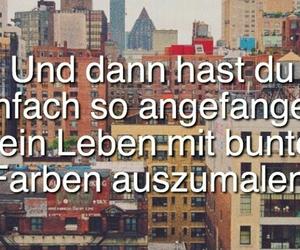 bunt, leben, and zitat image