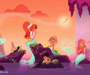 disney, mermaid, and peter pan image