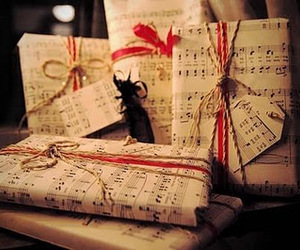 present, music, and christmas image
