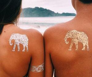 elephant, girl, and photography image