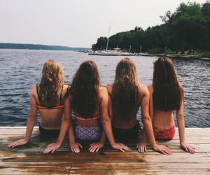 summer, beach, and best friends image