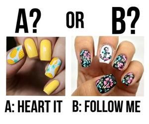 nails, makeup, and follow me image