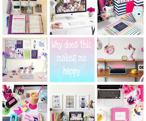 cool, desk, and happy image
