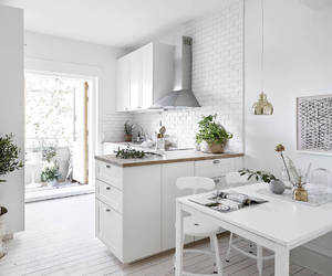 kitchen, white, and interior image