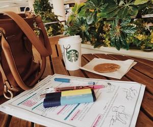 exam, starbucks, and school image