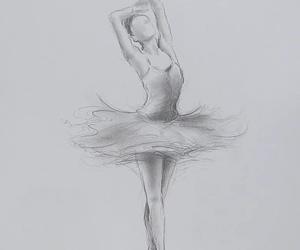 art, drawing, and ballerina image