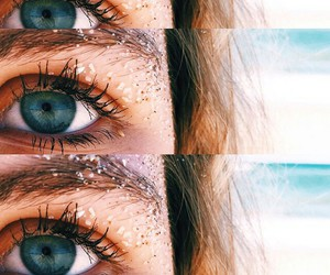 eyes, beach, and summer image