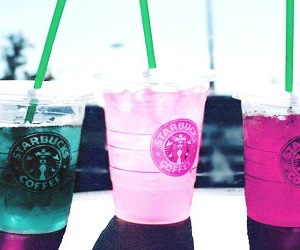 starbucks, summer, and pink image