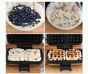 diy, food, and waffle image