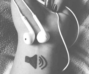 dark, music, and tattoo image