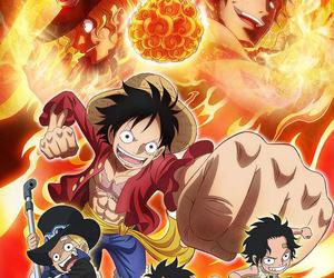 one piece, luffy, and ace image