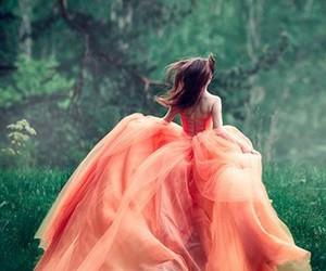 dress, orange, and fashion image
