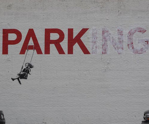 BANKSY, park, and parking image
