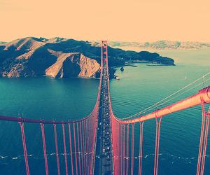 bridge, sea, and san francisco image