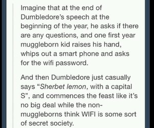 dumbledore, funny, and wifi image