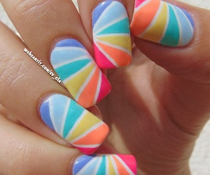 awesome, girly, and summer nails image