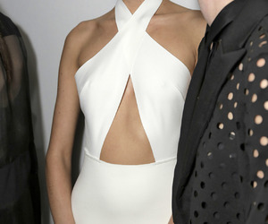 dress, white, and model image