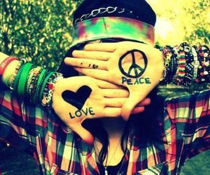 beautiful, hippy, and peace image