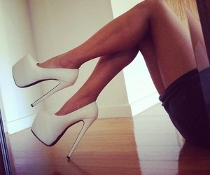 glam, high heels, and white image